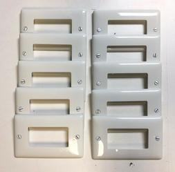 Unbreakable Decorator Outlet / Switch Wall Plate Cover White