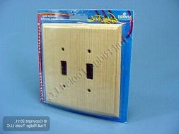 Leviton Unfinished Wood 2-Gang Switch Cover Wall Plate Switc