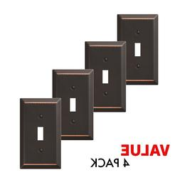 Value 4-Pack Toggle Light Switch Wall Plate Decorative, Oil