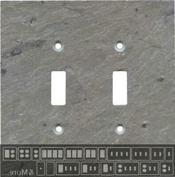 Vermont Grey Slate Switch Plates, Wall Plates & Outlet Cover