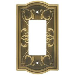 Victoria Single Rocker Or Gfi Wall Plate Antique Brass
