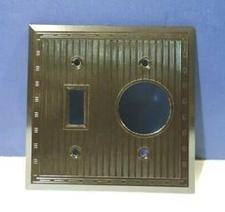 Vintage Brown 2-Gang Toggle & Single Receptacle Wall Plate 9