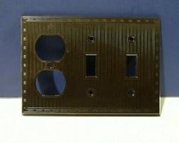 Vintage Brown 3-Gang Toggle & Receptacle Wall Plate 91543 NE