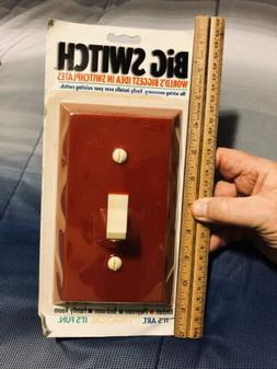 Vintage Red Big Switch Giant Light Wall Switch Plate  Easy I