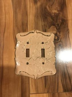 VTG Amerock CARRIAGE HOUSE Double Light Switch Wall Plate Co
