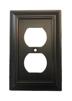 Brainerd W10086-BZM Architectural Single Duplex Outlet Cover