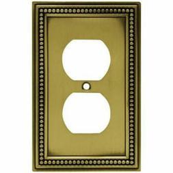 Franklin Brass W10103-ABT Antique Brass Beaded Duplex Cover