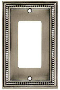 BRAINERD MFG/LIBERTY HDW W10237-BSP-U Pewt Bead 1G Deco Plat