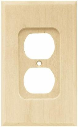 Franklin Brass W10397-C Wood Square Single Duplex Outlet Wal