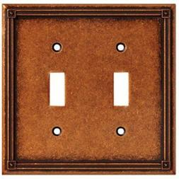 Liberty Hardware W16045-CPS-U Copper Ruston 2 Gang Toggle Pl