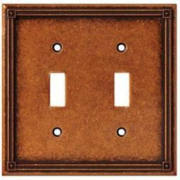 Liberty Hardware W16045-CPS-U Copper Ruston 2 Gang Toggle Pl