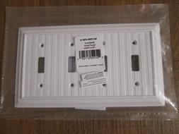 Brainerd W17999-PW-C Beadboard 4-Gang Pure White Quad Toggle