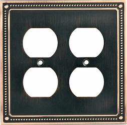 Franklin Brass W35064-C Classic Beaded Double Duplex Outlet