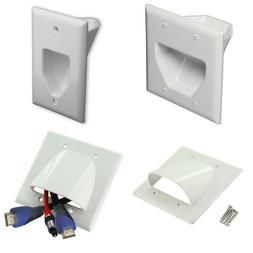 Wall Face Plate Cable Management Panel Single Dual Cables Ou