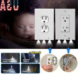Wall Outlet Cover plate Plug Cover LED Light Hallway Bathroo