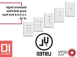 Wall Plate Network Port Keystone Jack 1-2-3-4-6 Cat5/Cat6 Et