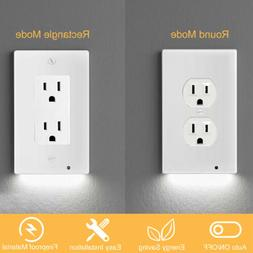 wall plate outlet cover with led night