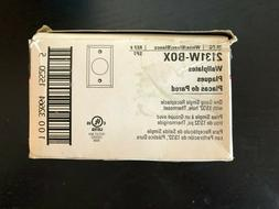 Cooper Wall Plate Round Hole 2131W Box Of 25 - White