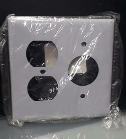 WALL PLATE STAINLESS STEEL 302/304 SS78 SINGLE/DUPLEX  2 GAN