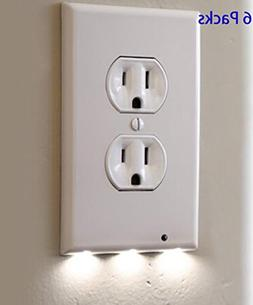 6 Pack Outlet Wall Plate With LED Night Lights - No Batterie