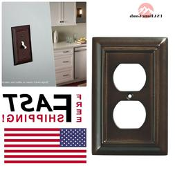 Wall Plates Espresso Architectural Wood Decorative Single Du