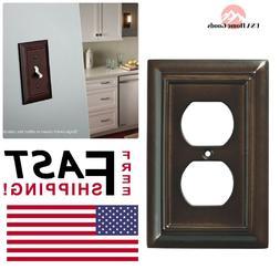 Wall Plates Espresso Architectural Wood Decorative Single Du