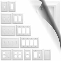 Wall Switch Plate Cover Cottage White Wood Outlet Toggle Dec