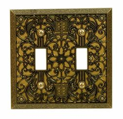 Wall Switch Plate Cover Filigree Antique Brass Outlet Toggle