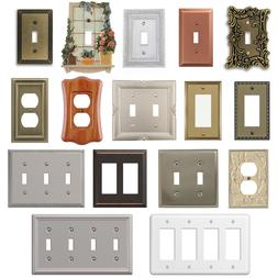 Wall Switch Plate Cover Outlet Toggle Decora Rocker Duplex N