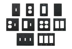 Wall Switch Plates Covers Hammered Matte Black Textured Outl