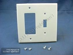 Wallplate 2-Gang 1-Toggle 1-Decora Midway Size Nylon - White