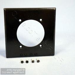 Wallplate 2-Gang Single 2.465 Standard Size Plastic - Black