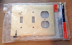 Wallplate 3-Gang 2-Toggle 1-Duplex Midway Size Nylon - Ivory