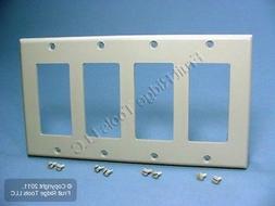 Wallplate 4-Gang Decora Standard Size Plastic - Gray
