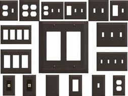 Wallplate Hampton Bay Bronze Tiered Outlet Switch Wall Plate