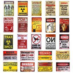 Warning Shot FART ZONE Vintage Tin Signs Art Poster <font><b