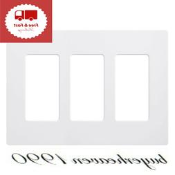 White Claro 3 Gang Decorator Wallplate CW-3-WH High Quality