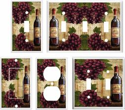 WINE AND GRAPE  BOTTLE LIGHT SWITCH COVER PLATE  K 11 U PICK