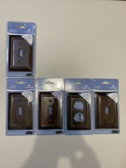 Brainerd Wood Architectural Single Switch Wall Plate, Espres