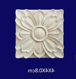 Wood Carved Head Patch Plates European Style Home Wall Door