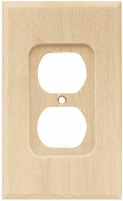 Wood Square Single Duplex Wall Plate , Wall Lighting, Light