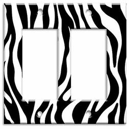 Art Plates - Zebra Print Switch Plate - Double Rocker - NEW